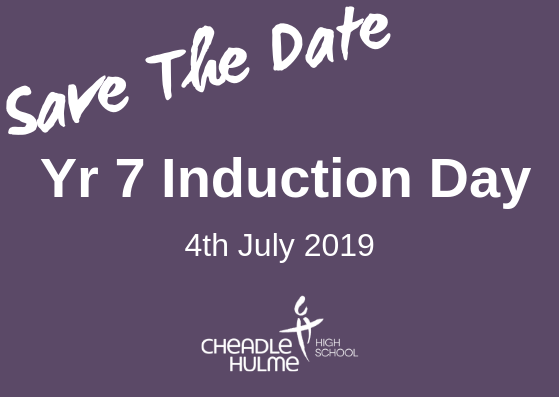 Induction Day for students joining CHHS in September 2019