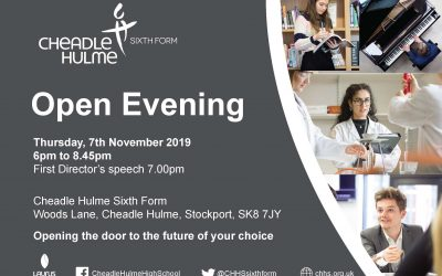 Cheadle Hulme Sixth Form Open Evening 2019