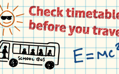 Plan ahead for travel to school this September