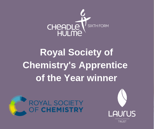 Former student is Royal Society of Chemistry's top apprentice