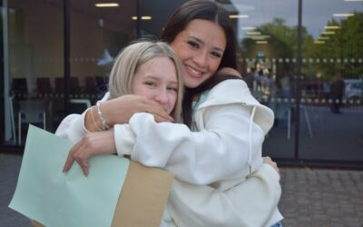 Students return to school to celebrate exceptional GCSE results