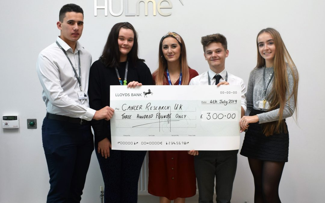 CHHS students donate £300 to Cancer Research UK