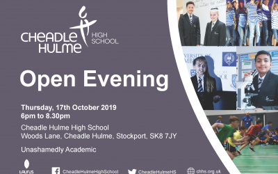 Save the date for CHHS's 2019 Open Evening