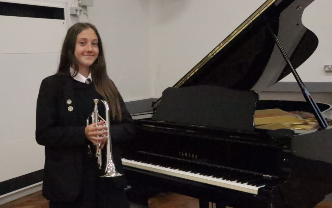 Student Macey hits high note with national brass band