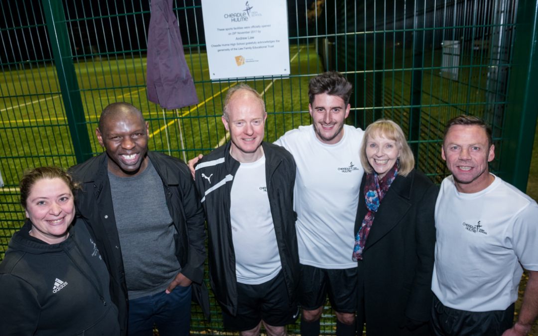 Sport stars officially open state of the art sports pitches at Cheadle Hulme High School