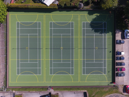 New tennis courts are a smash hit with students